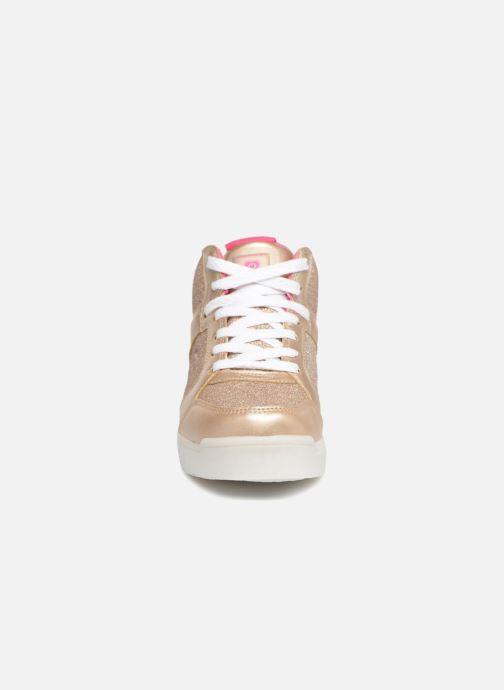 Baskets Skechers E-Pro Glitter Glow Or et bronze vue portées chaussures