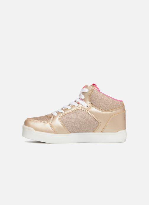 Baskets Skechers E-Pro Glitter Glow Or et bronze vue face