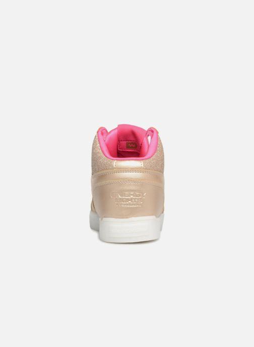 Baskets Skechers E-Pro Glitter Glow Or et bronze vue droite