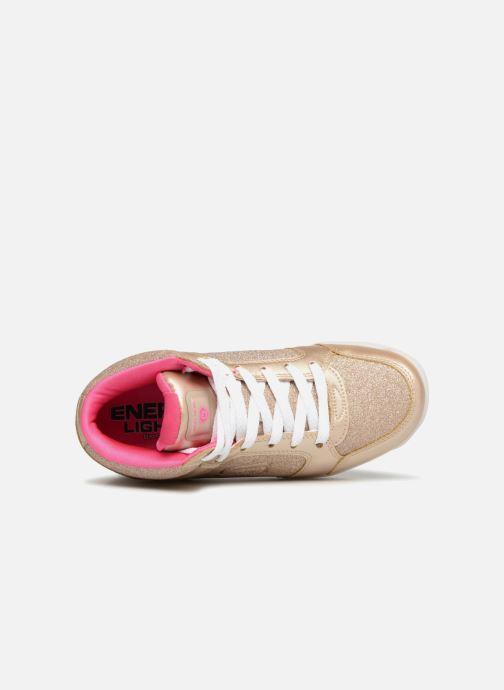 Baskets Skechers E-Pro Glitter Glow Or et bronze vue gauche