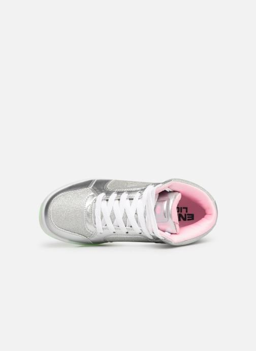 Trainers Skechers E-Pro Glitter Glow Silver view from the left