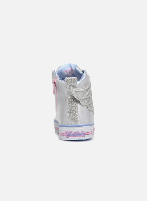 Trainers Skechers Twinkle Lite Wonder Wingz Silver view from the right