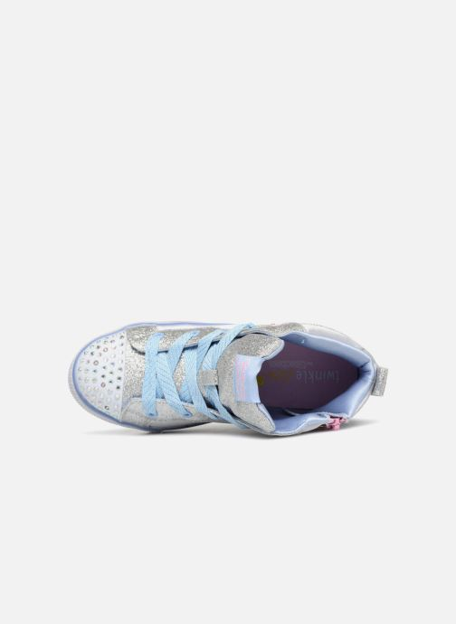 Trainers Skechers Twinkle Lite Wonder Wingz Silver view from the left