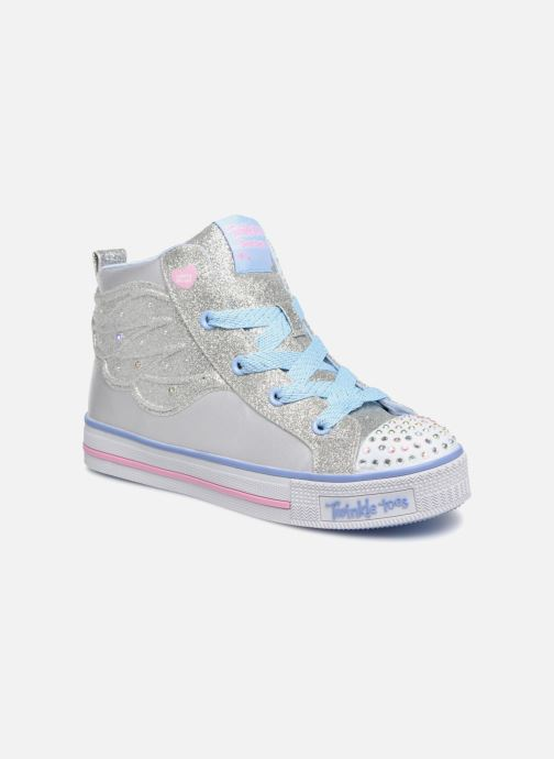 Trainers Skechers Twinkle Lite Wonder Wingz Silver detailed view/ Pair view