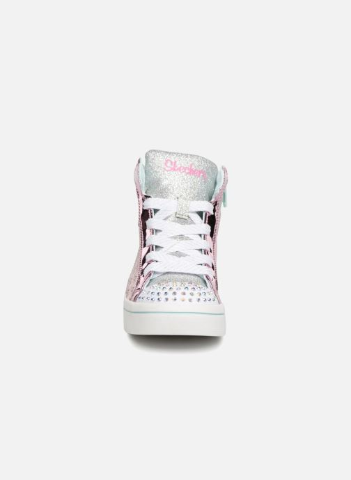 Sneaker Skechers Twi-Lites Glitter-Ups rosa schuhe getragen