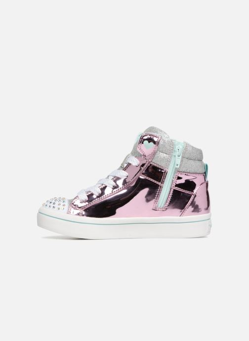 Sneaker Skechers Twi-Lites Glitter-Ups rosa ansicht von vorne