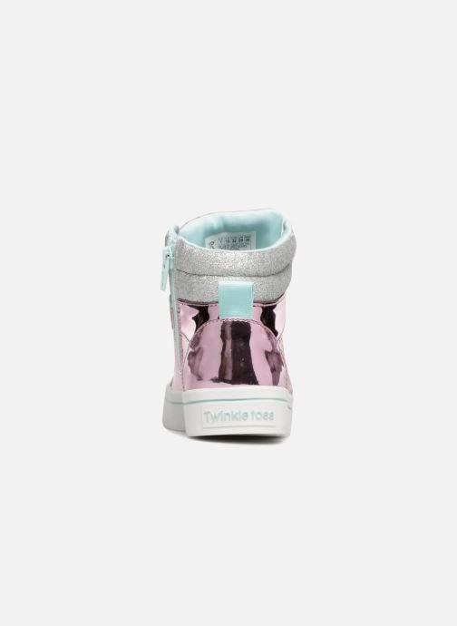 Sneaker Skechers Twi-Lites Glitter-Ups rosa ansicht von rechts