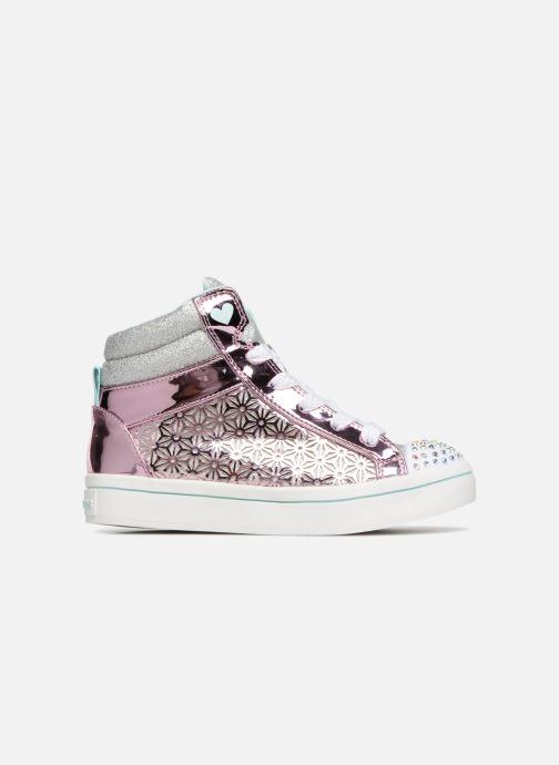Sneaker Skechers Twi-Lites Glitter-Ups rosa ansicht von hinten