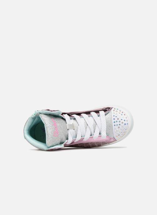 Sneaker Skechers Twi-Lites Glitter-Ups rosa ansicht von links