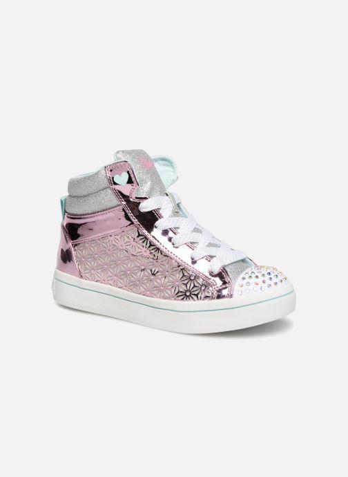 Sneaker Skechers Twi-Lites Glitter-Ups rosa detaillierte ansicht/modell