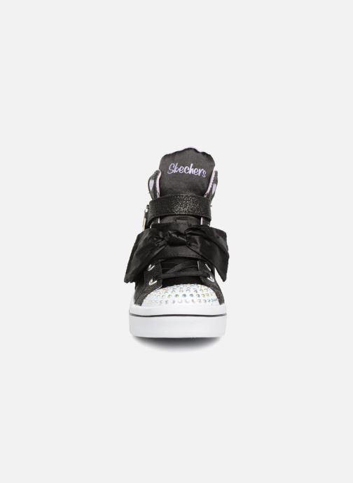 Baskets Skechers Twi-Lites Bow Beautiful Noir vue portées chaussures