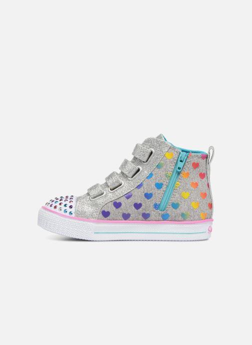 Sneakers Skechers Suffles Lite Fancy Flutters Argento immagine frontale