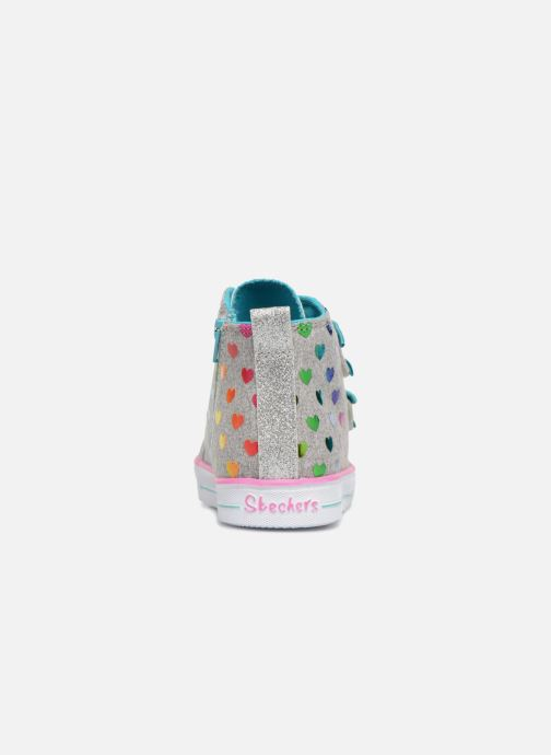 Trainers Skechers Suffles Lite Fancy Flutters Silver view from the right