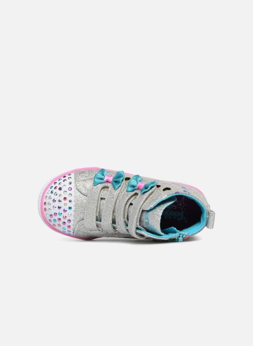 Trainers Skechers Suffles Lite Fancy Flutters Silver view from the left