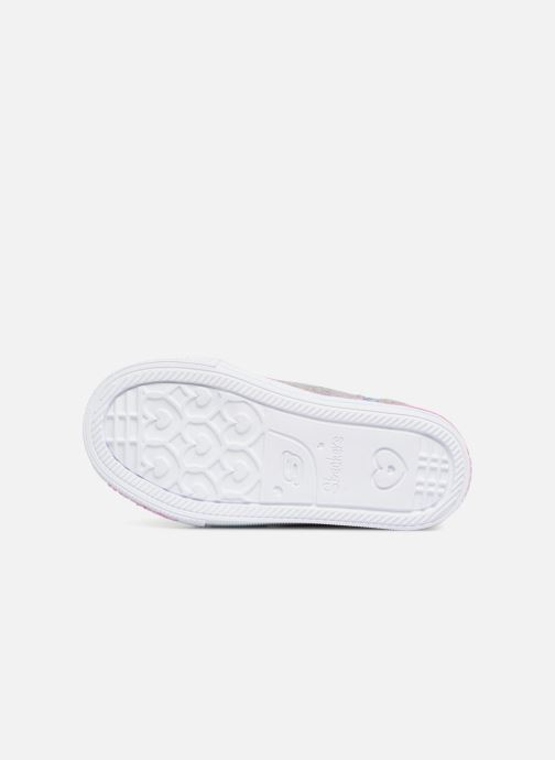 Trainers Skechers Suffles Lite Fancy Flutters Silver view from above