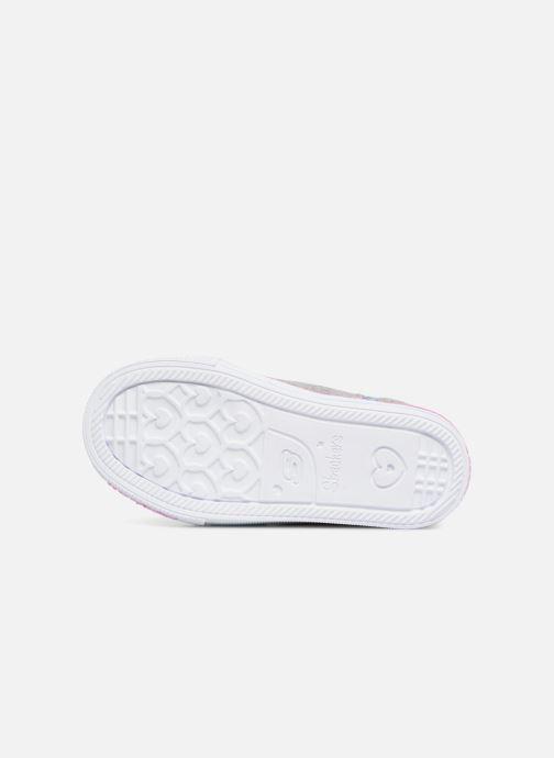 Sneakers Skechers Suffles Lite Fancy Flutters Argento immagine dall'alto