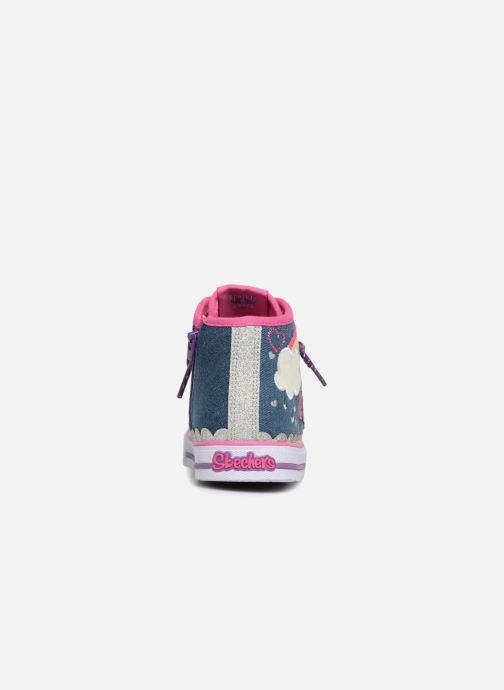 Sneakers Skechers Shuffles Rainbow Blauw rechts