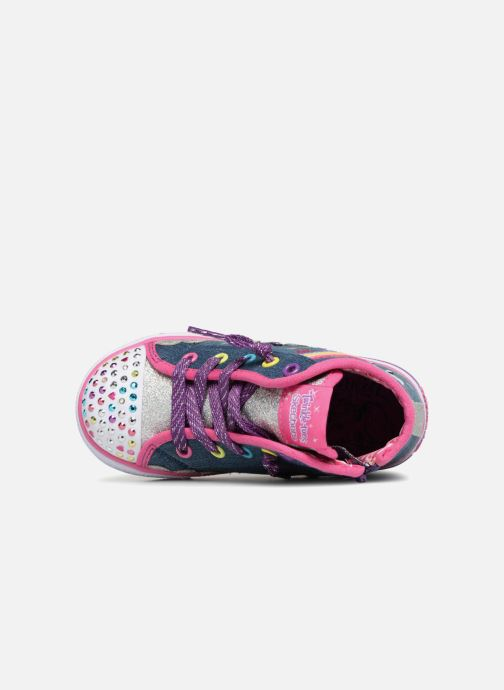 Trainers Skechers Shuffles Rainbow Blue view from the left