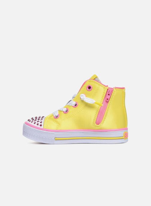 Trainers Skechers Shuffles Smile Yellow front view
