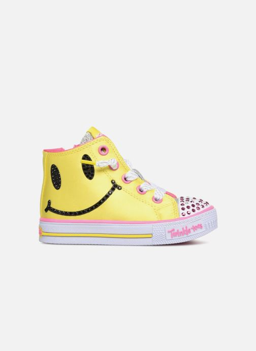 Trainers Skechers Shuffles Smile Yellow back view