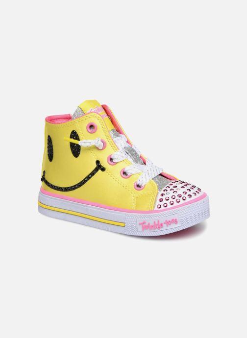 Baskets Skechers Shuffles Smile Jaune vue détail/paire
