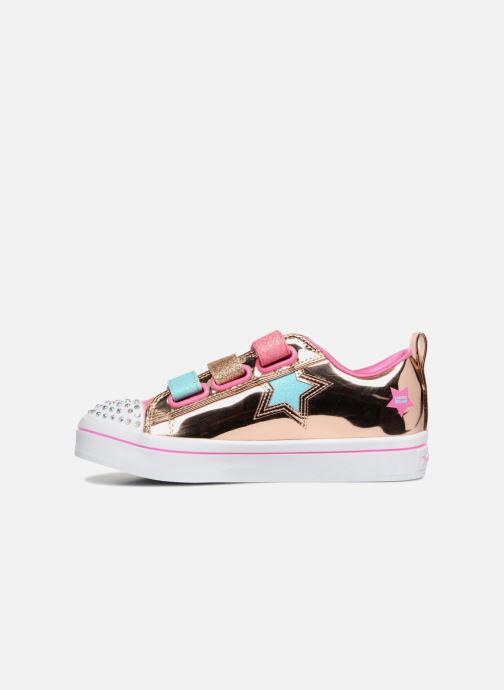 Sneakers Skechers Twi-Lites Oro e bronzo immagine frontale