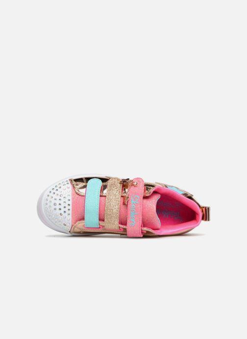 Sneakers Skechers Twi-Lites Oro e bronzo immagine sinistra