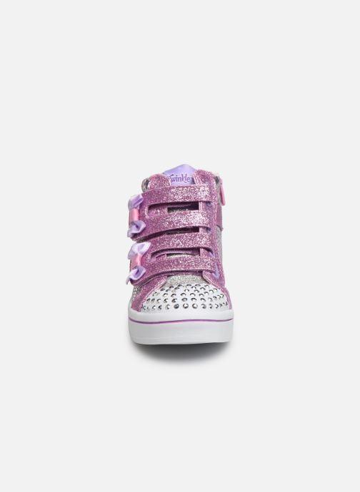 Baskets Skechers Twi-Lites Argent vue portées chaussures