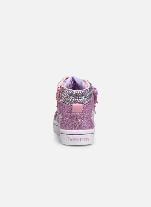 Sneakers Skechers Twi-Lites Zilver rechts