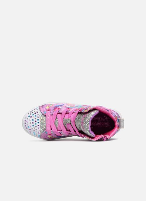Deportivas Skechers Twi-Lites Princess Party Rosa vista lateral izquierda