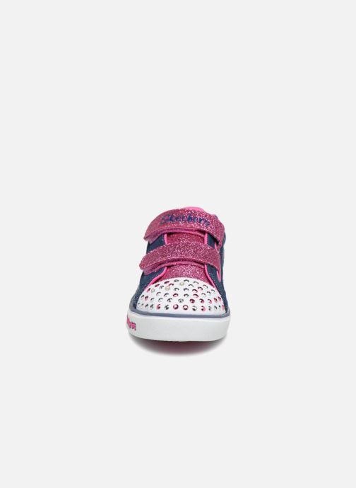 Baskets Skechers Sparkle Glitz Denim Daisy Multicolore vue portées chaussures