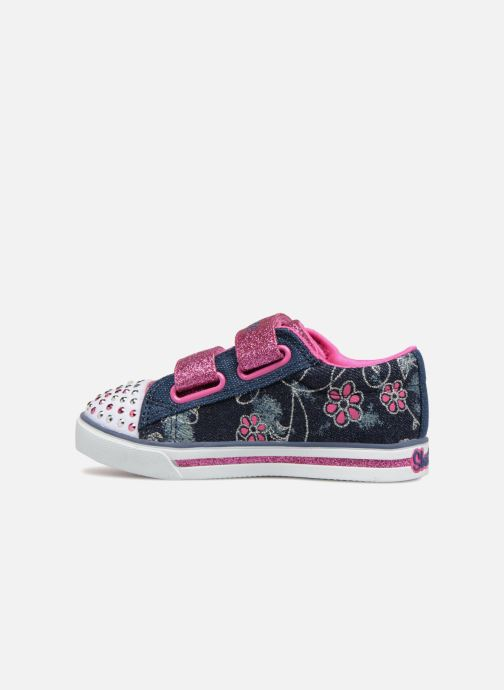 Sneakers Skechers Sparkle Glitz Denim Daisy Multicolor voorkant