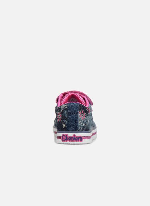 Baskets Skechers Sparkle Glitz Denim Daisy Multicolore vue droite