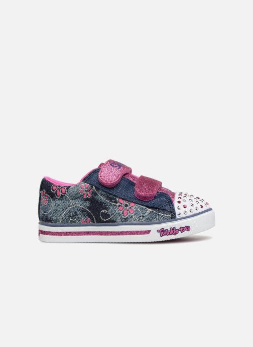 Sneakers Skechers Sparkle Glitz Denim Daisy Multicolor achterkant