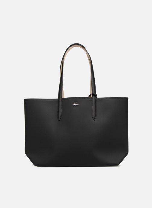 Handtassen Lacoste Anna Réversible Bicolore Shopping Bag Zwart detail