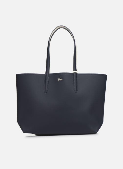 Handtassen Lacoste Anna Réversible Bicolore Shopping Bag Blauw detail