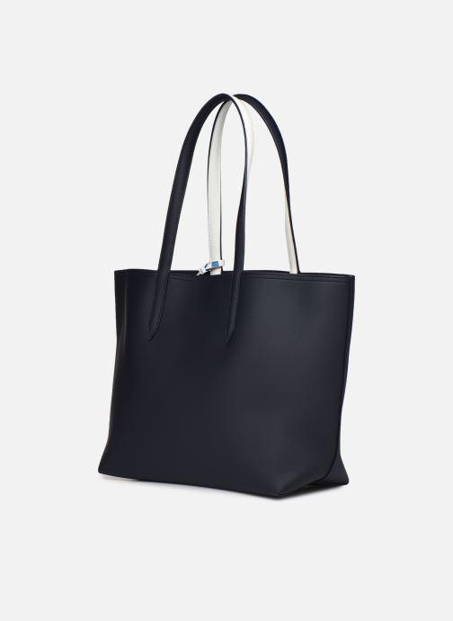 Handtaschen Lacoste Anna blau ansicht von rechts