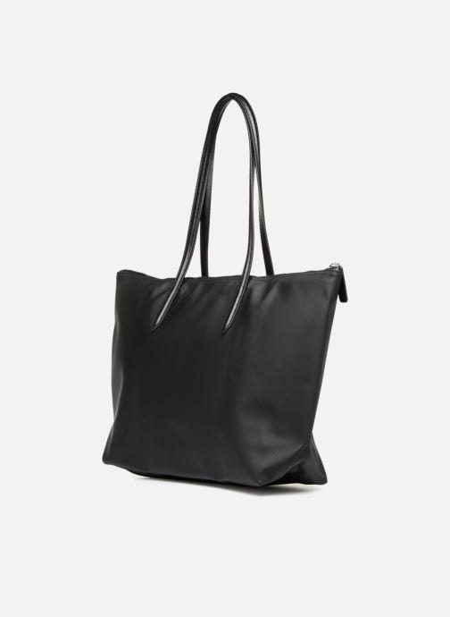 Sacs à main Lacoste L.12.12 Concept L Shopping Bag Noir vue droite