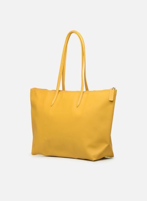 Handtaschen Lacoste L1212 CONCEPT gelb ansicht von rechts