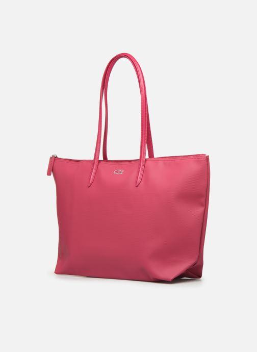 Handtaschen Lacoste L.12.12 Concept L Shopping Bag rot schuhe getragen