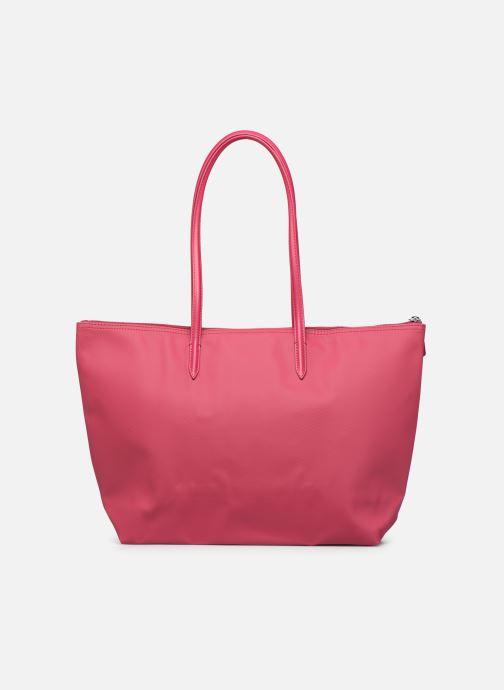 Handtaschen Lacoste L.12.12 Concept L Shopping Bag rot ansicht von vorne