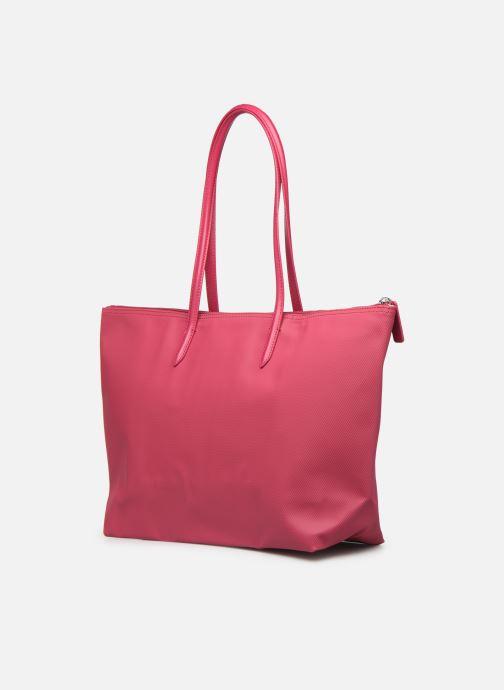 Handtaschen Lacoste L.12.12 Concept L Shopping Bag rot ansicht von rechts