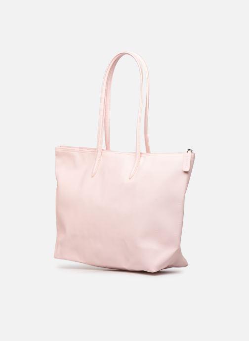 Handtassen Lacoste L.12.12 Concept L Shopping Bag Roze rechts