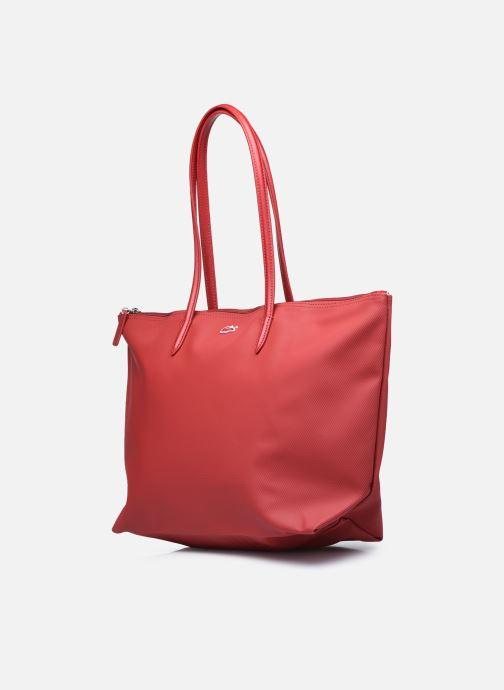 Handtaschen Lacoste L.12.12 Concept L Shopping Bag weinrot schuhe getragen