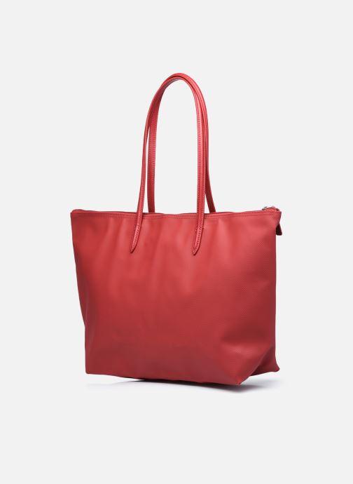 Handtaschen Lacoste L.12.12 Concept L Shopping Bag weinrot ansicht von rechts