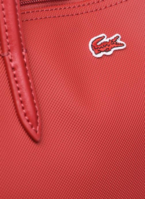 Handtaschen Lacoste L.12.12 Concept L Shopping Bag weinrot ansicht von links