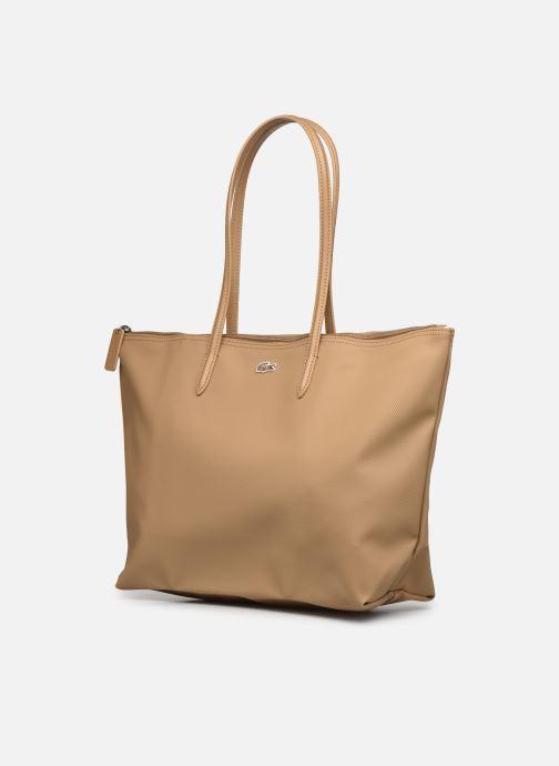 Bolsos de mano Lacoste L.12.12 Concept L Shopping Bag Marrón vista del modelo