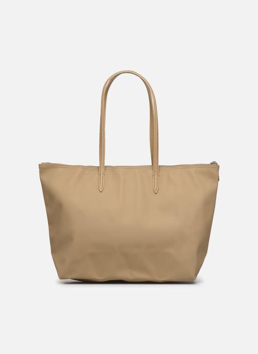 Bolsos de mano Lacoste L.12.12 Concept L Shopping Bag Marrón vista de frente
