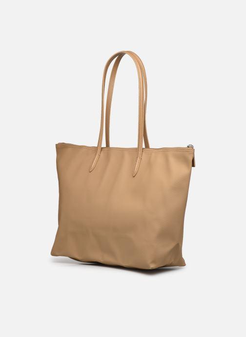 Bolsos de mano Lacoste L.12.12 Concept L Shopping Bag Marrón vista lateral derecha
