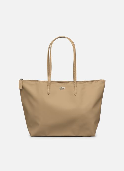 Bolsos de mano Lacoste L.12.12 Concept L Shopping Bag Marrón vista de detalle / par